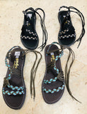 Ankle Tie  Paracord Open Toe  Sandals-edocollection