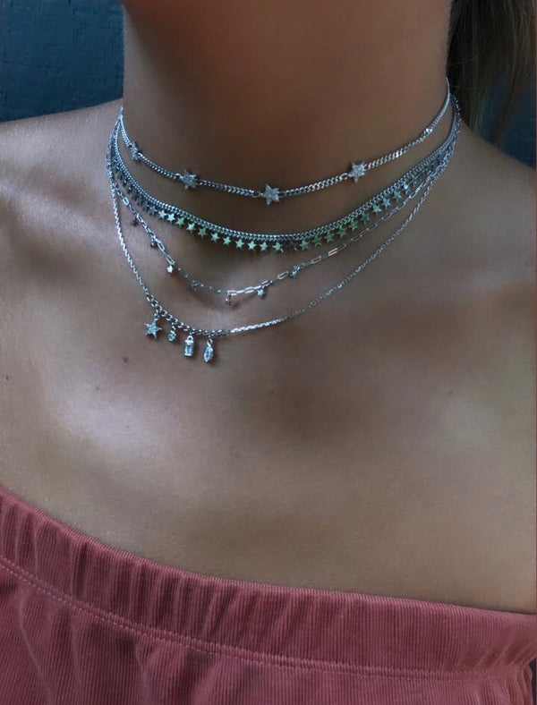 TINY STARS CHOKER NECKLACE