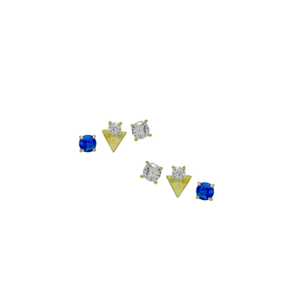 BLUE OPAL STUD SET