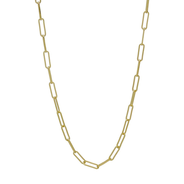 "GOLD CHAIN LINK NECKLACE (36"")"