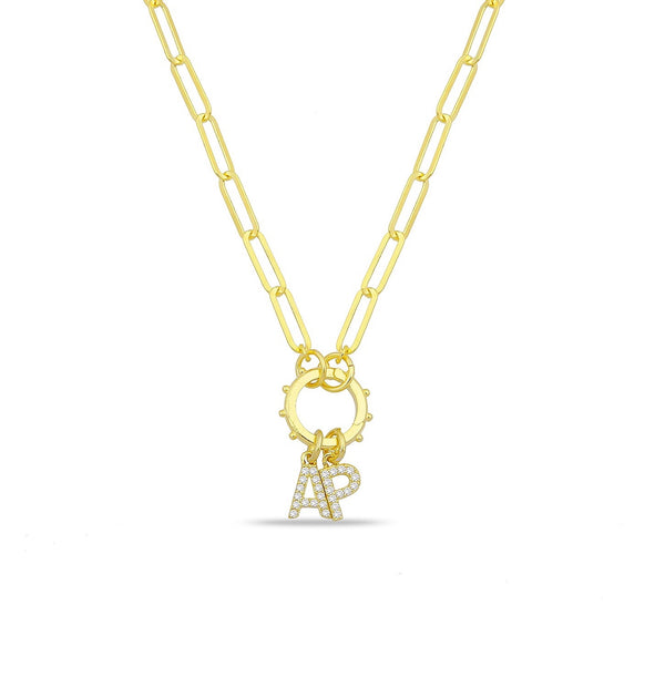 INITIALS CHARM CHAIN NECKLACE