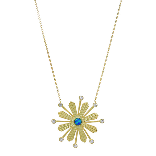 DECO SUNBURST NECKLACE