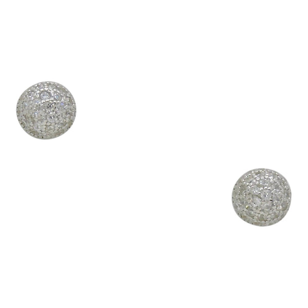 MINI PAVE' BALL EARRINGS