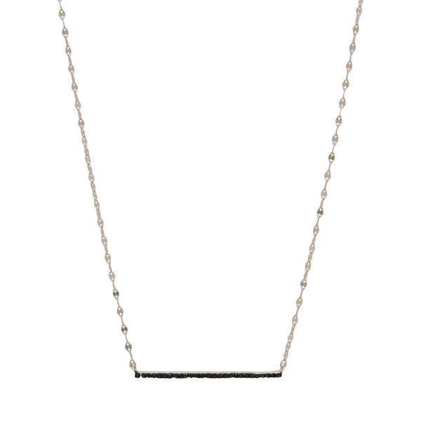 LEIGHTON JET BAR NECKLACE