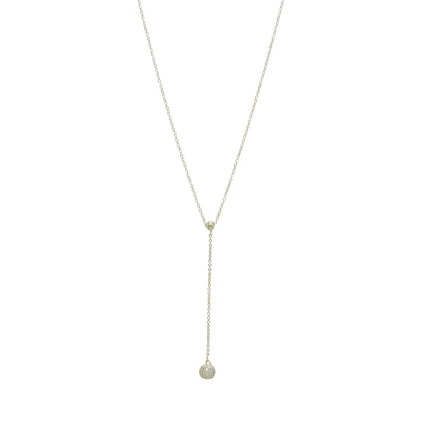 PAVE' BALL DROP NECKLACE