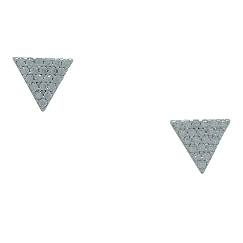 PAVE' TRIANGLE EARRINGS