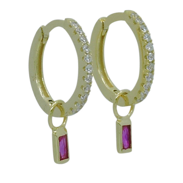 DIVIA HUGGIE EARRINGS