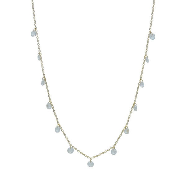 CRYSTAL GEM DROPS NECKLACE