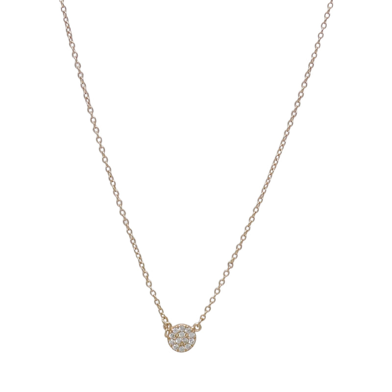 MINI PAVE' DISC NECKLACE