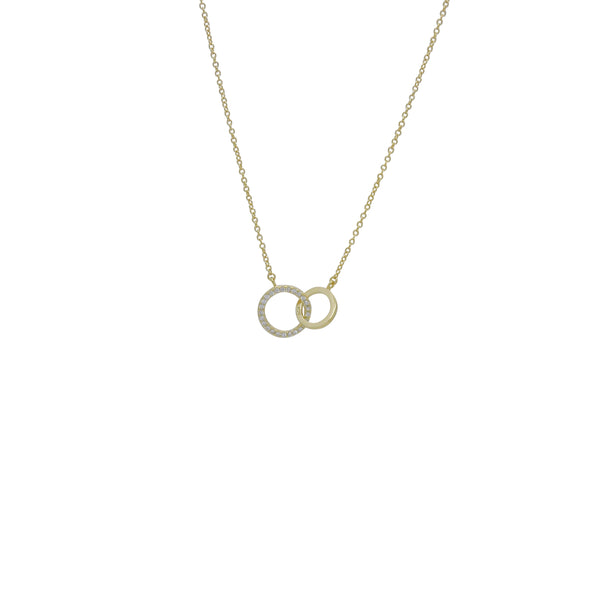 DOUBLE CZ RING NECKLACE