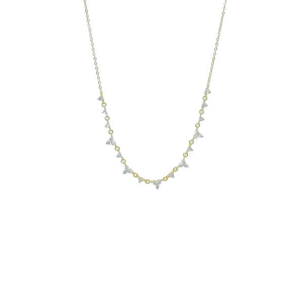TRIO CZ NECKLACE