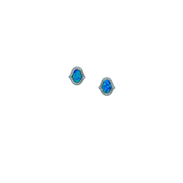 BLUE HAMSA EARRINGS