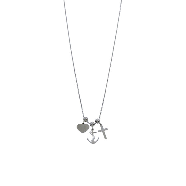 FAITH & LOVE ANCHOR NECKLACE