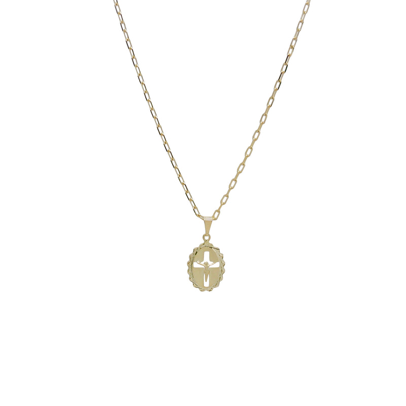 CRUCIFIX MEDAL NECKLACE