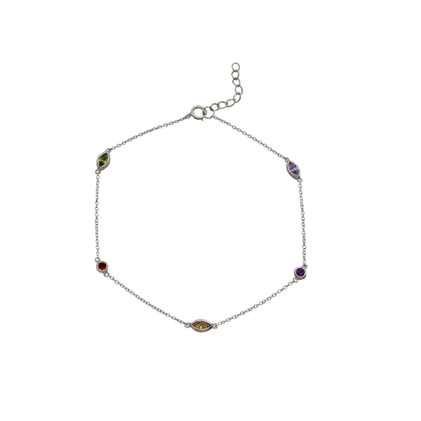 MULTI GEM ANKLE BRACELET