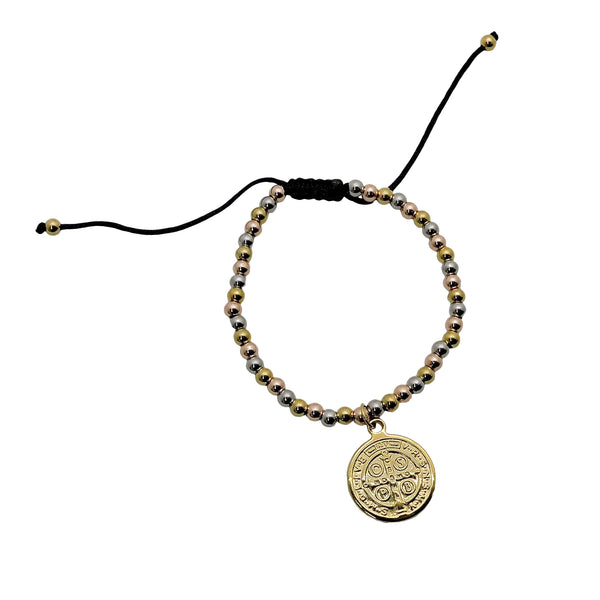 TRI COLOR COIN BRACELET