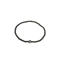 MINI PAVE' BALL BEAD BRACELET