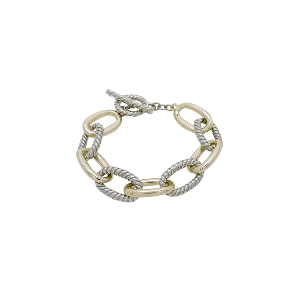 TWO TONE CHAIN LINK BRACELET
