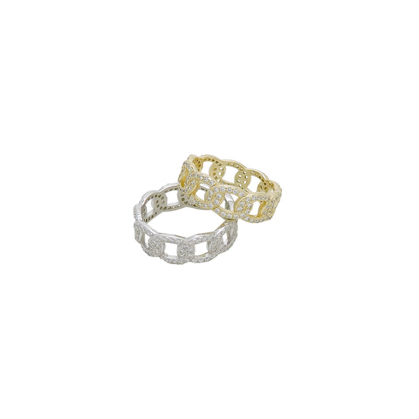 PAVE' CHAIN LINK RING