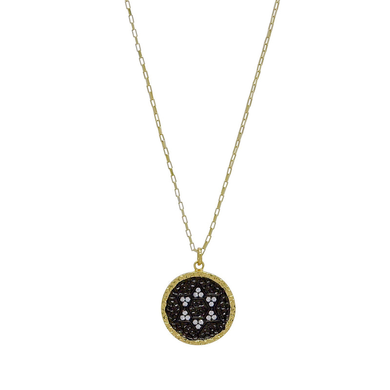 STAR OF DAVID HAMMERED COIN NECKLACE