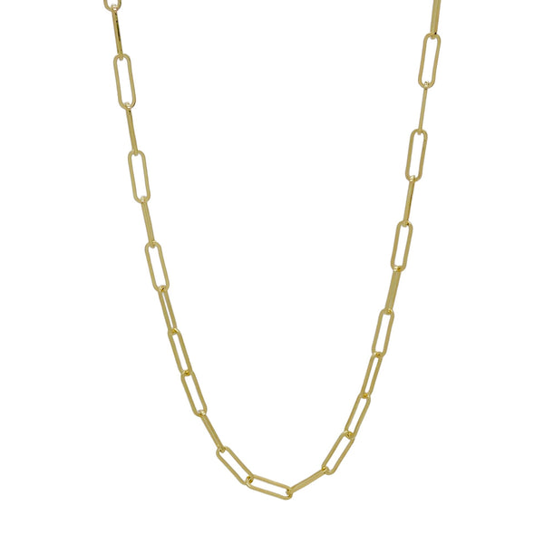 "GOLD CHAIN LINK NECKLACE (24"")"