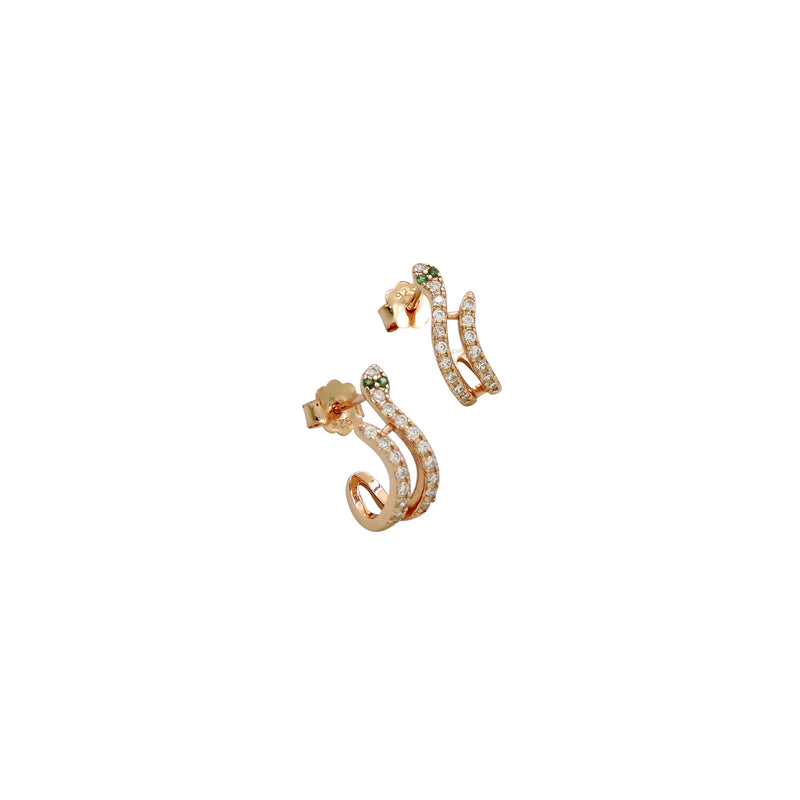 SNAKE HUGGIE EARRINGS