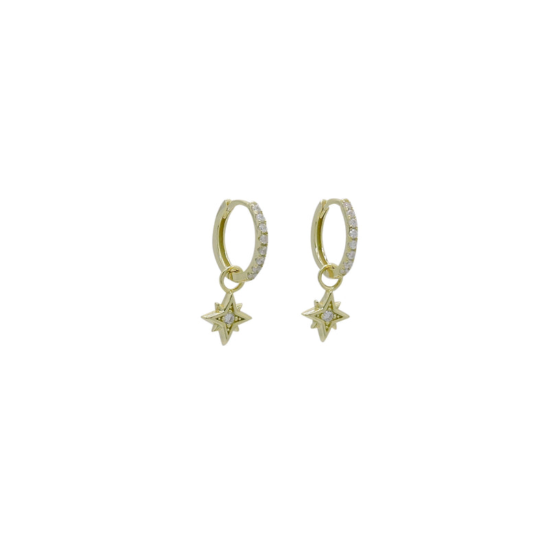 NORTHSTAR HUGGIE EARRINGS