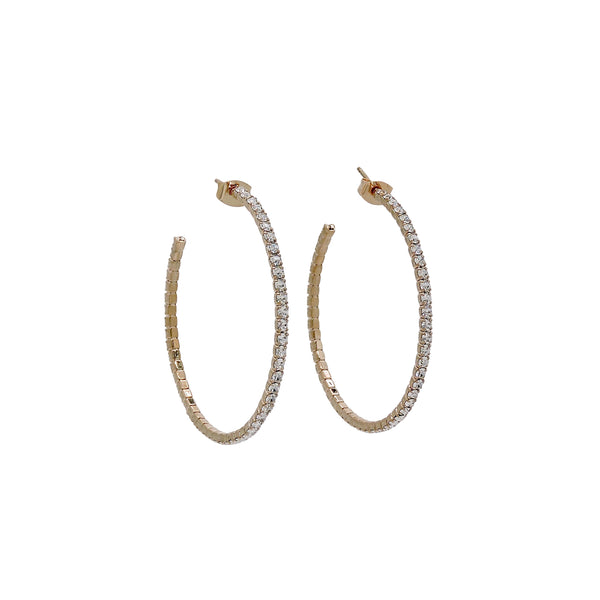 HELENE MEDIUM HOOP EARRINGS