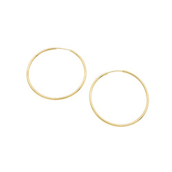 INFINITY HOOP EARRINGS (LARGE)