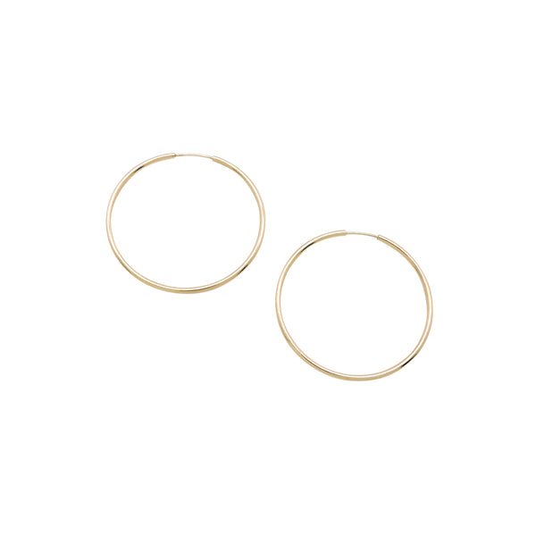 INIFINITY HOOP EARRINGS (MEDIUM)