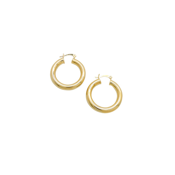 TUBE HOOP EARRINGS (SMALL)