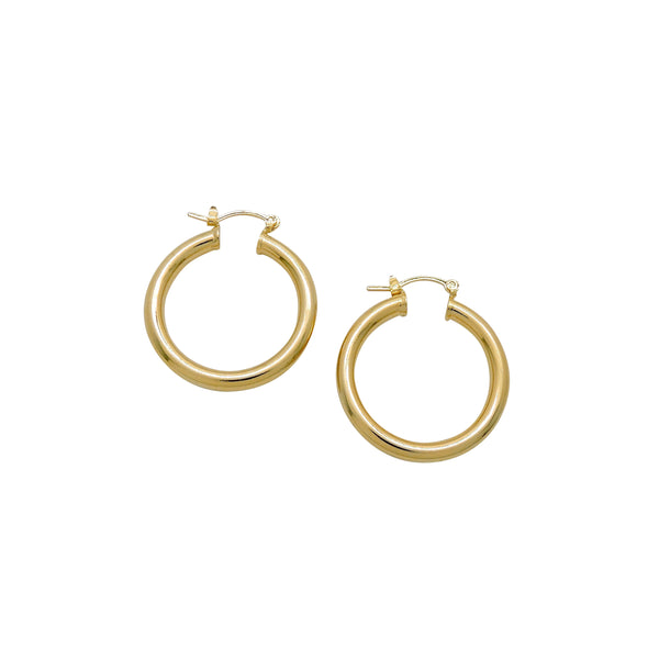 TUBE HOOP EARRINGS (MEDIUM)