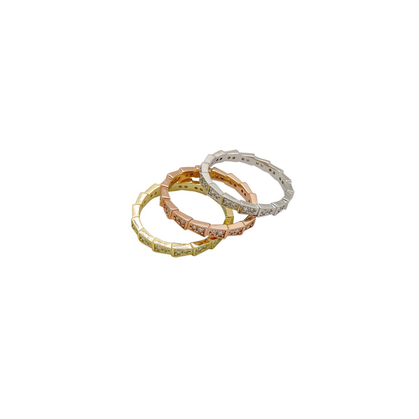 SERPENTINE RING SET