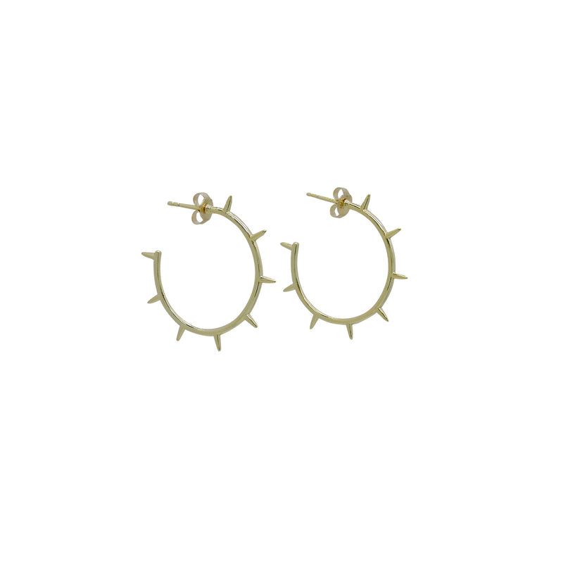 SPIKE HOOP EARRINGS
