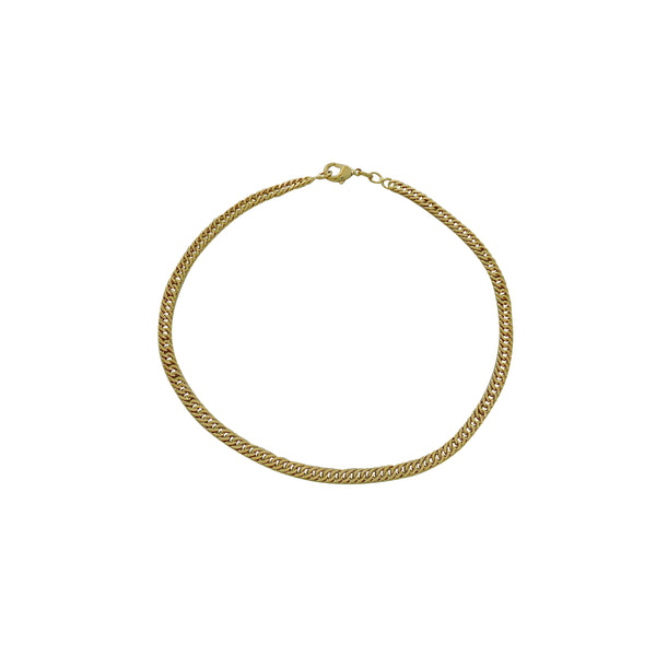 GOLD CHAIN LINK ANKLE BRACELET