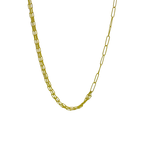 MULTI LAYER OVAL CHAIN NECKLACE
