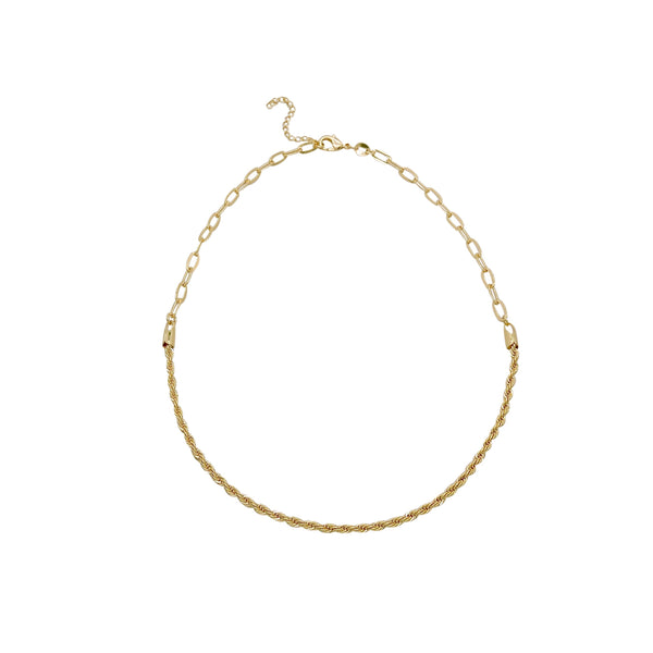 ROPE CHAIN OVAL LINK NECKLACE
