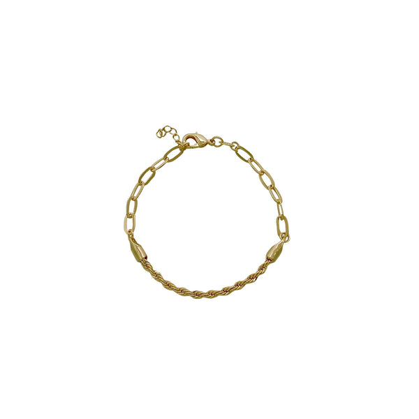 ROPE CHAIN OVAL LINK BRACELET