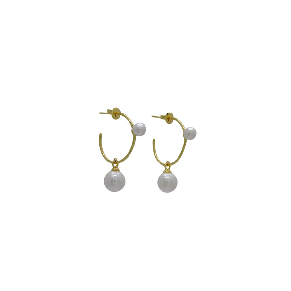 KINSLEY PEARL HOOPS