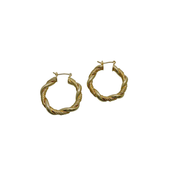 TWISTED ROPE HOOPS (SMALL)