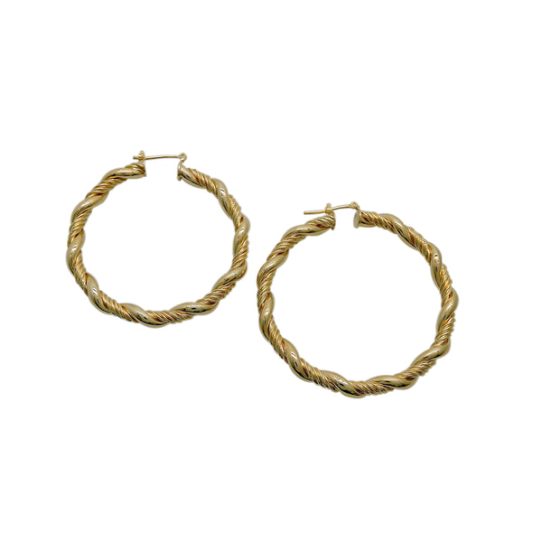 TWISTED ROPE HOOPS (LARGE)
