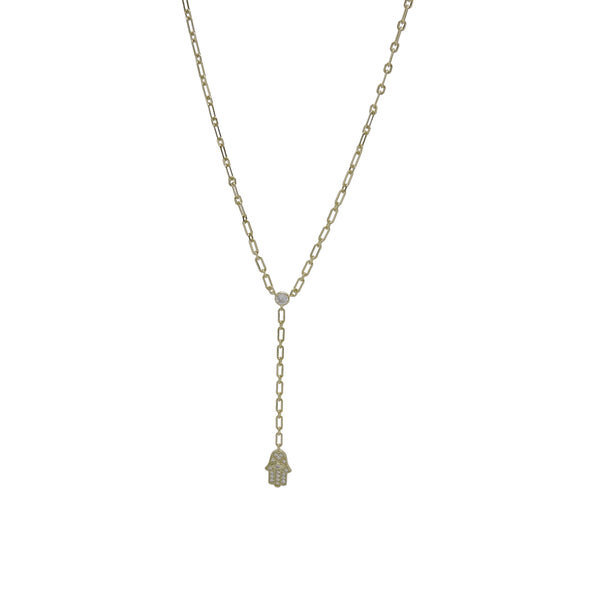 HAMSA CHAIN LINK NECKLACE