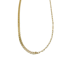 CUBAN X OVAL CHAIN LINK NECKLACE