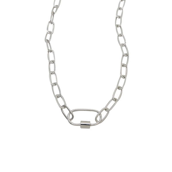 MAREN OVAL CHAIN NECKLACE