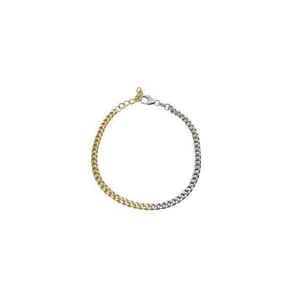 TWO-TONE BRINLEY CHAIN BRACELET