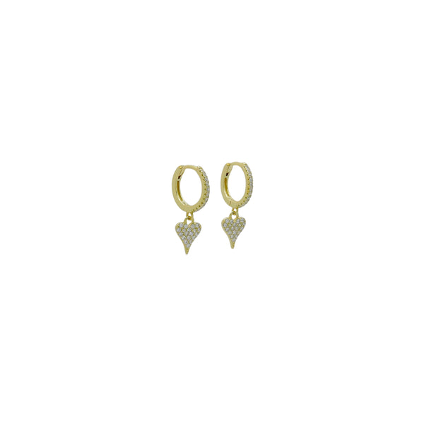 DAINTY HEART HUGGIE EARRINGS