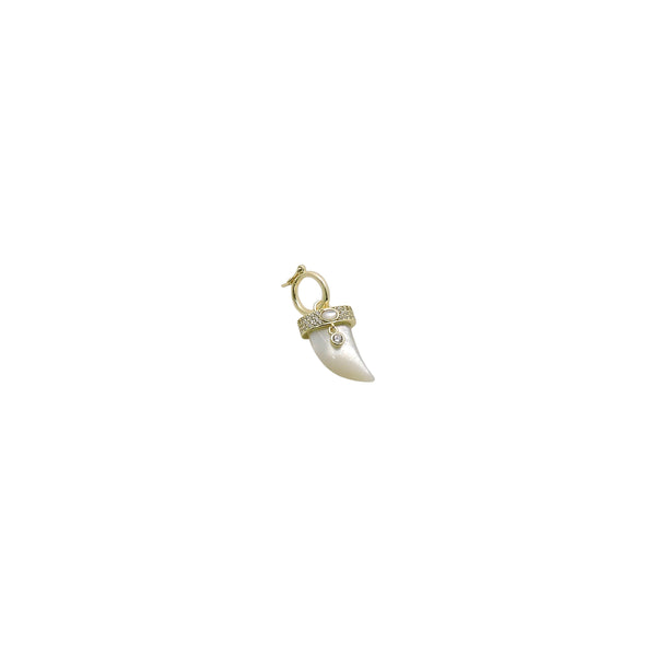 MOTHER OF PEARL HORN CHARM