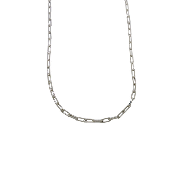 MINI CHAIN LINK NECKLACE (STERLING)