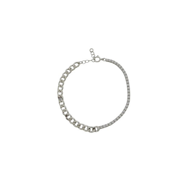 TENNIS CURB CHAIN BRACELET