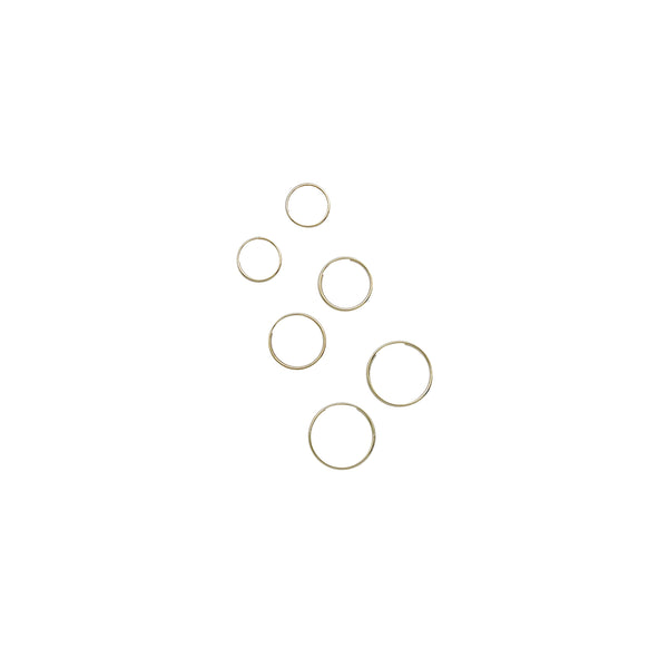 THIN INFINITY HOOPS - 14K GOLD
